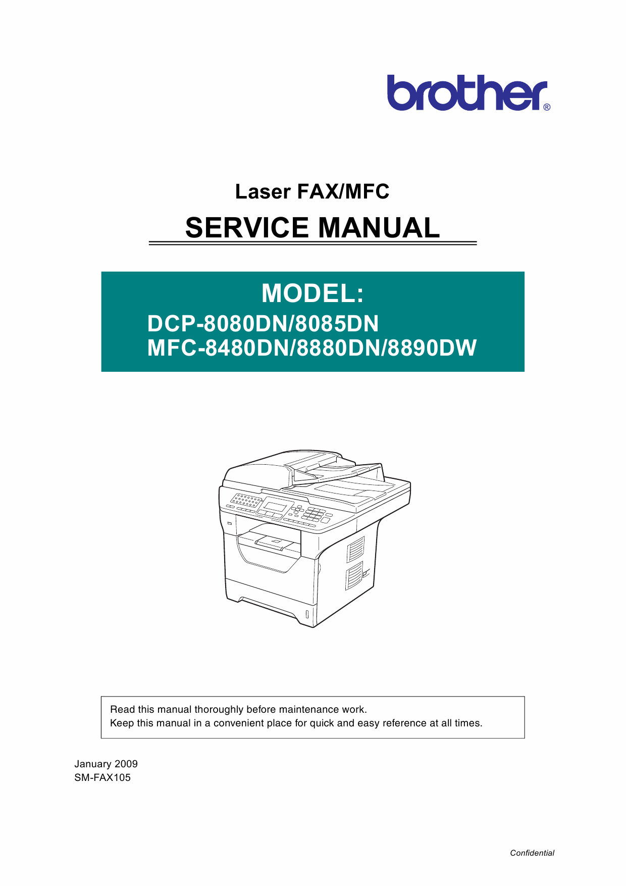 Brother Laser-MFC 8480 8880 8890 DN-DW DCP8080 8085 DN Service Manual-1